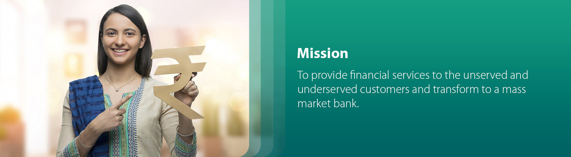 mission to provide financial services